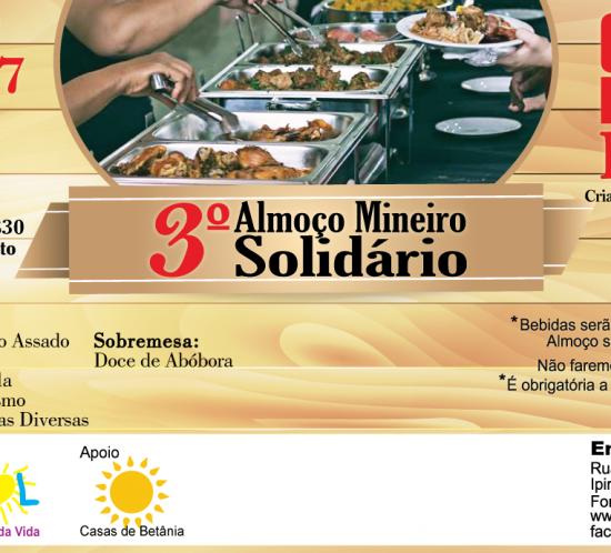 Almoço Mineiro Solidário